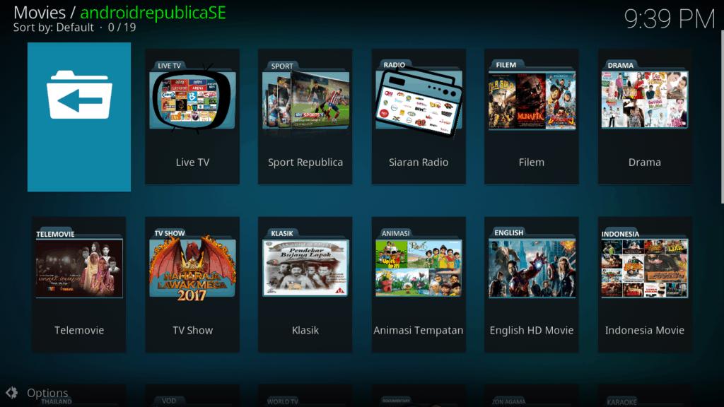 AndroidrepublicaSE   Premium Kodi Add On - Kodi IPTV Malaysia